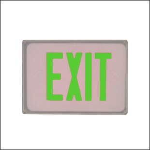 6PS, wet location led exit sign emergency light/s-E3WG