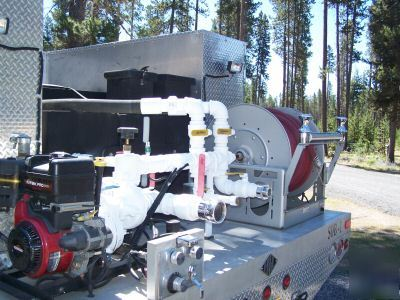Wildland fire truck custom built slip-on tank and pump