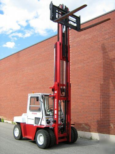 Nissan 15000lbs Forklift Diesel Fork Lift Truck Outdoor
