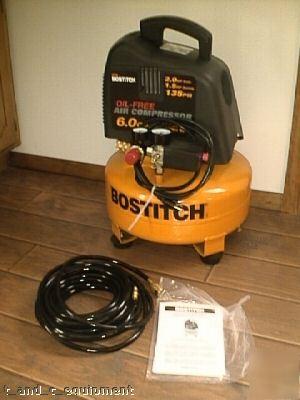 new bostitch 6 0 gal air compressor w air hose manual