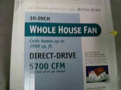 Attic Aire 30 Inch Whole House Fan 5700 Cfm