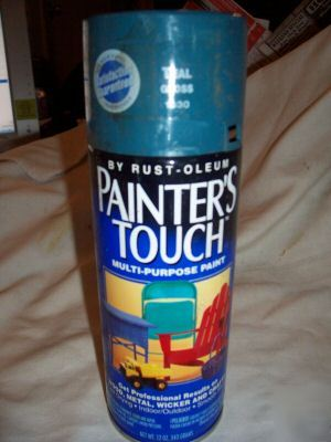 Painter 39 s touch spray paint teal gloss 1930 rust oleum Teal spray paint for metal